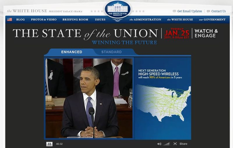 SOTU President Obama High Speed Wireless