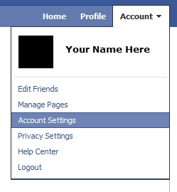 Screenshot of how to change Facebook settings to HTTPS